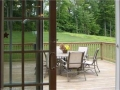 Deck. View from Dining Room Area Slider